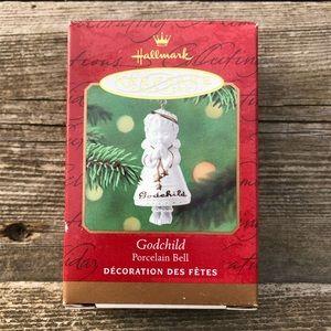 Hallmark 2001 Godchild Christmas Ornament Bell